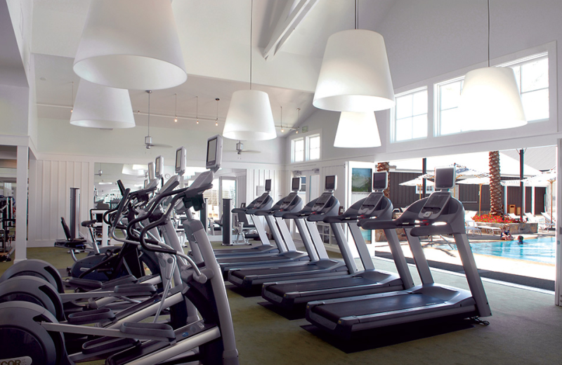Fitness room at The Carneros Inn.