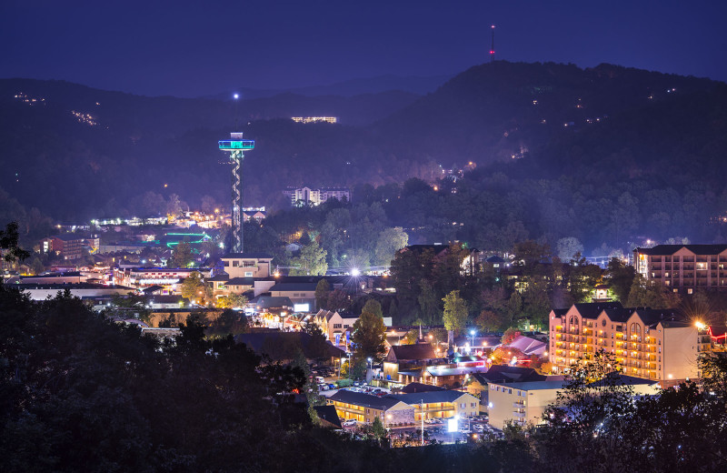 City view at Olde Gatlinburg Rentals.