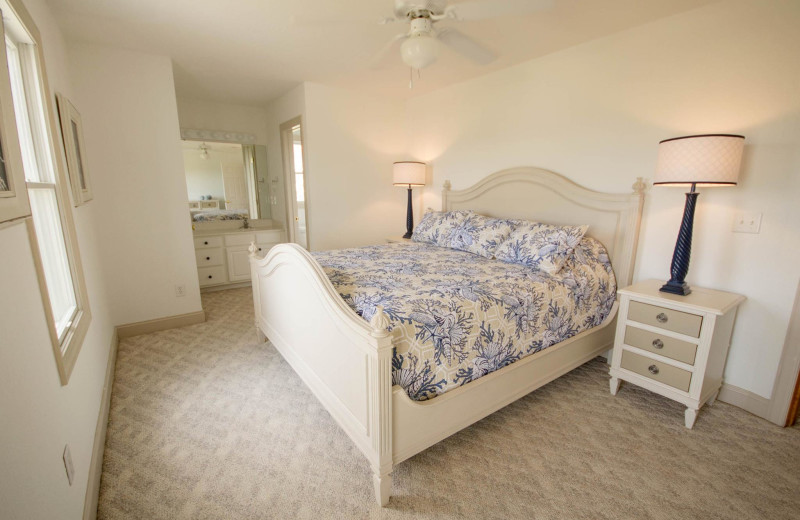 Rental bedroom at Beach Realty & Construction.