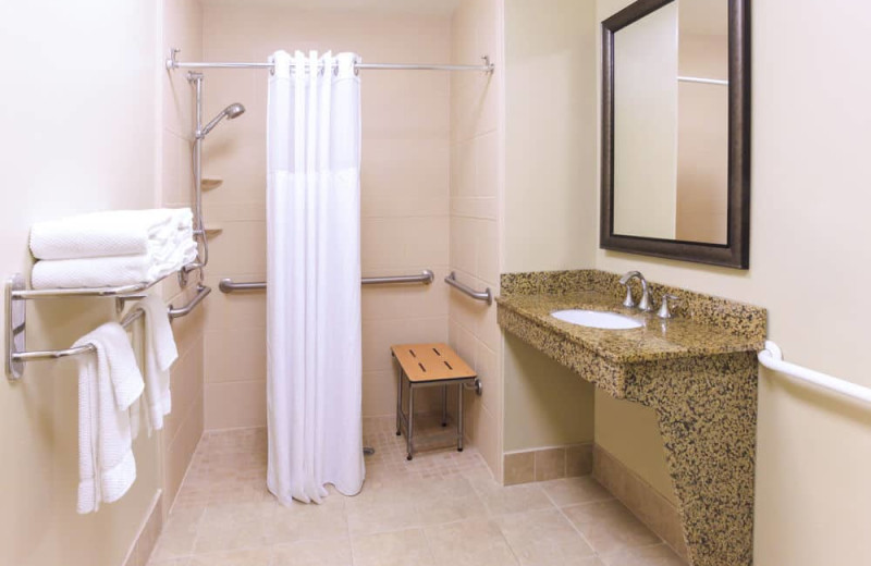 Guest bathroom at Staybridge Suites Naples-Gulf Coast.