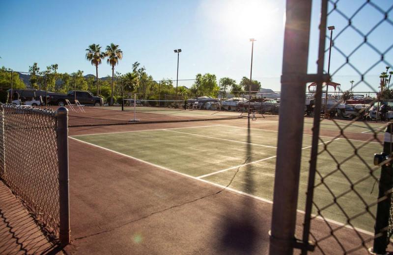 Tennis court at Havasu Springs Resort.
