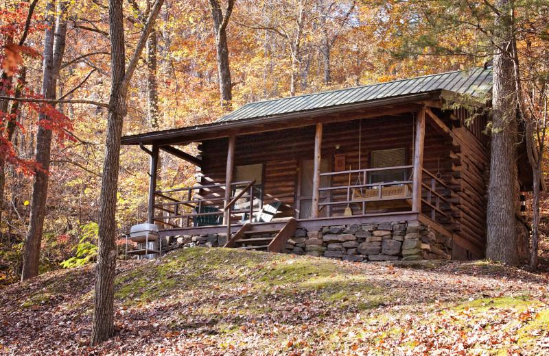 Cabin exterior at Buffalo Outdoor Center.