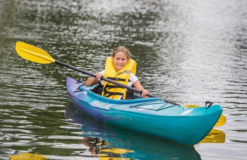 Kayaking at Great Blue Resorts- Shamrock Bay Resort.