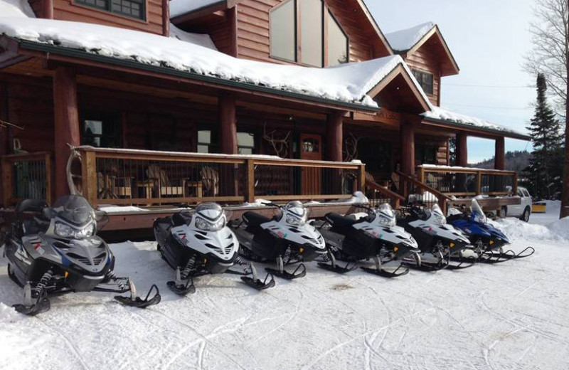 Snowmobiling at Hungry Jack Lodge.