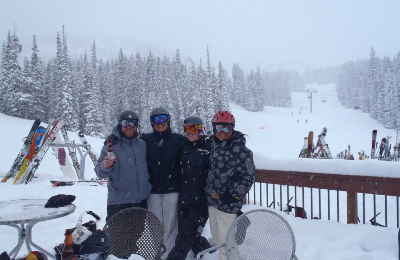 Skiing at Three Rivers Resort & Outfitting.