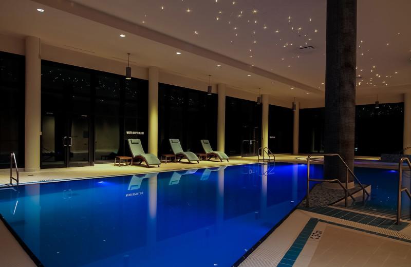 Indoor pool at Sparkling Hill Resort.