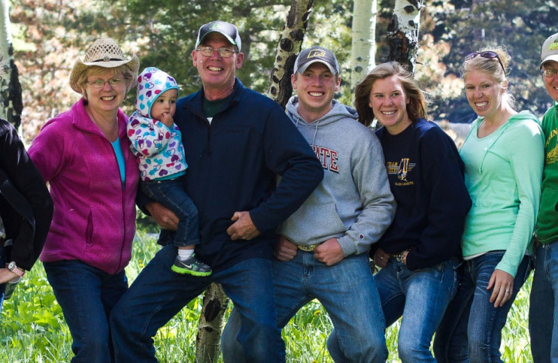 Family at Wind River Ranch.