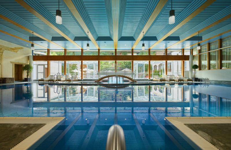 Indoor pool at Seiler Hotel Monte Rosa.