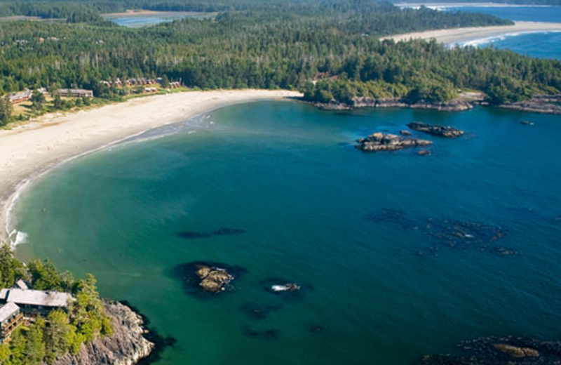 Aerial view at Middle Beach Lodge.