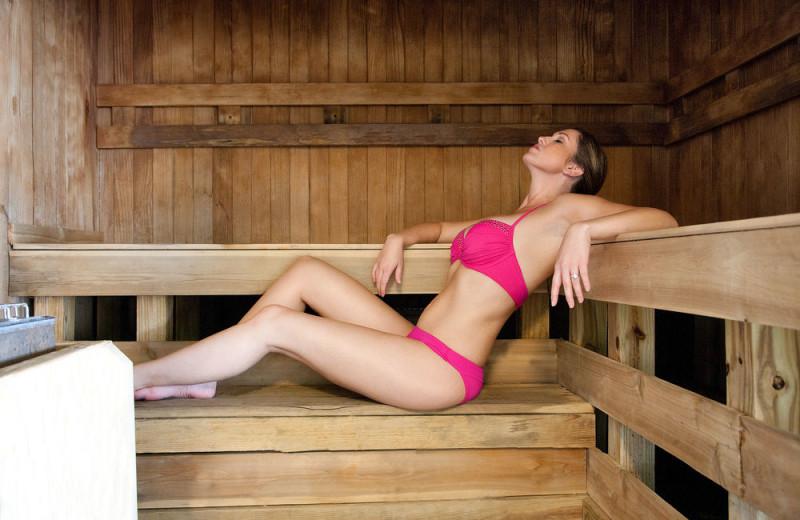 Sauna at Long Bay Resort.