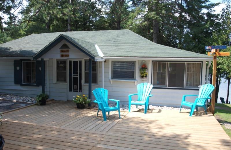 Cabin exterior at Sandy Beach at Otter Lake.