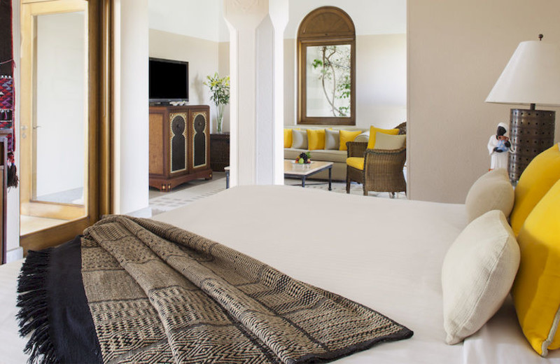 Guest room at The Oberoi Sahl Hasheesh.