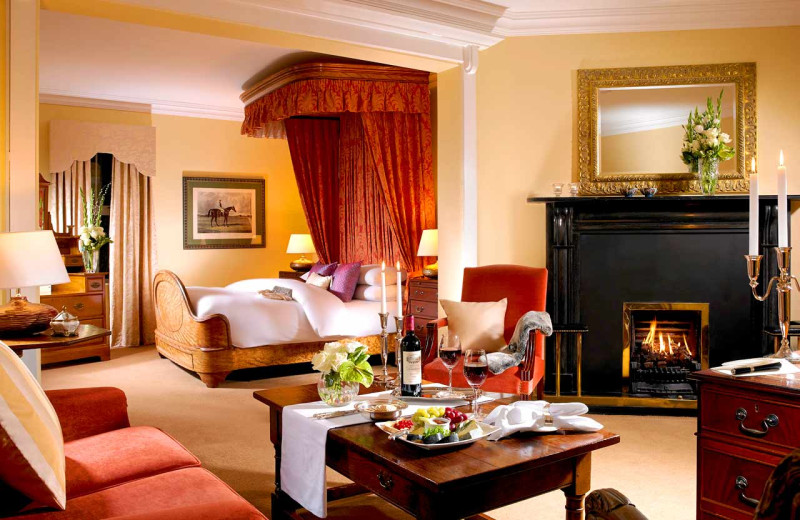 Guest room at Dunraven Arms.