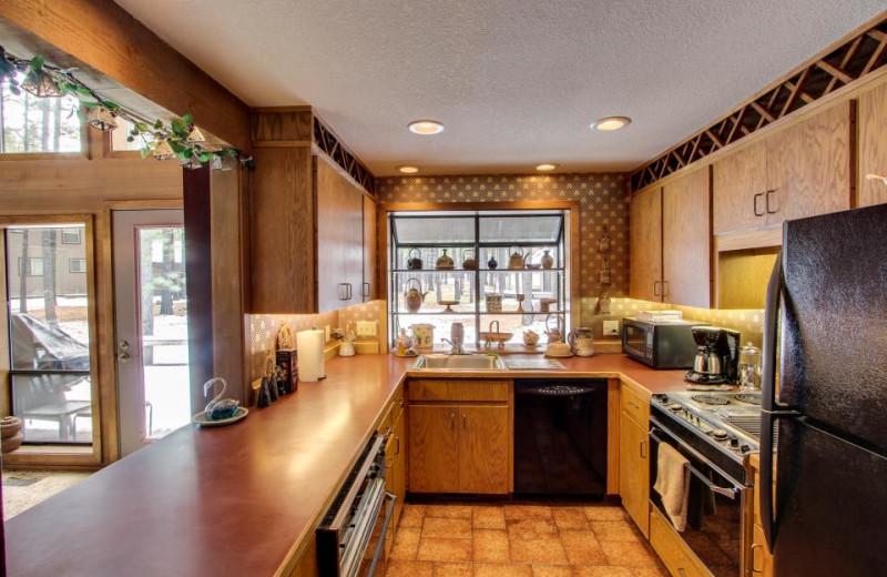 Vacation rental kitchen at Vacasa Rentals Eagle Crest.