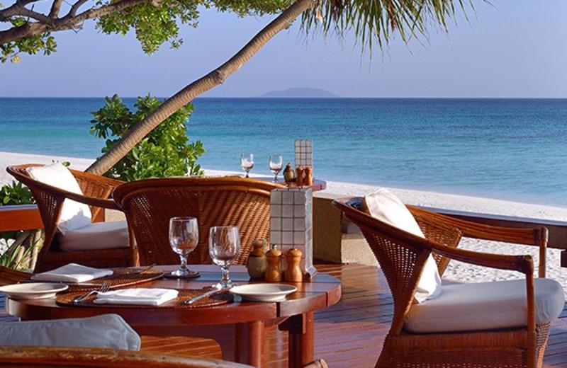 Dining at Amanpulo Resort.