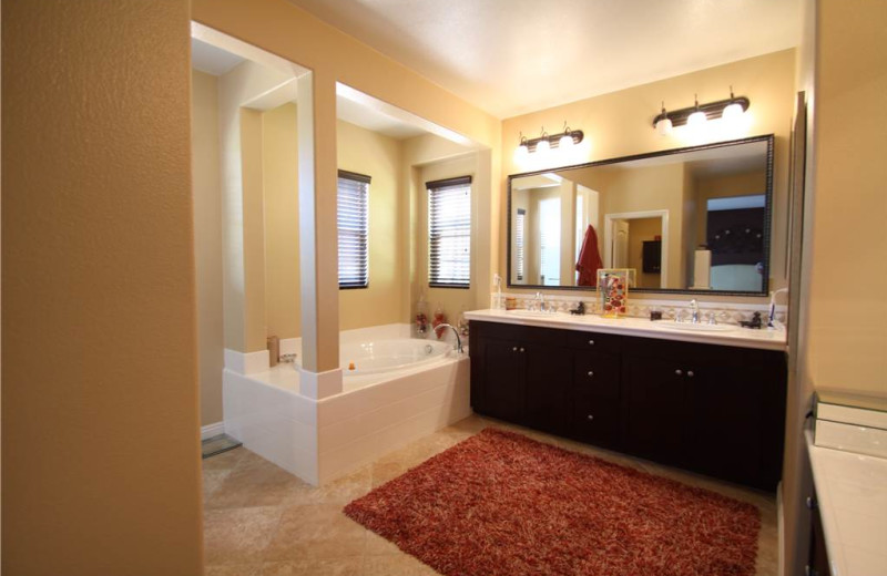 Rental bathroom at Vacation Rentals by McLain Properties.