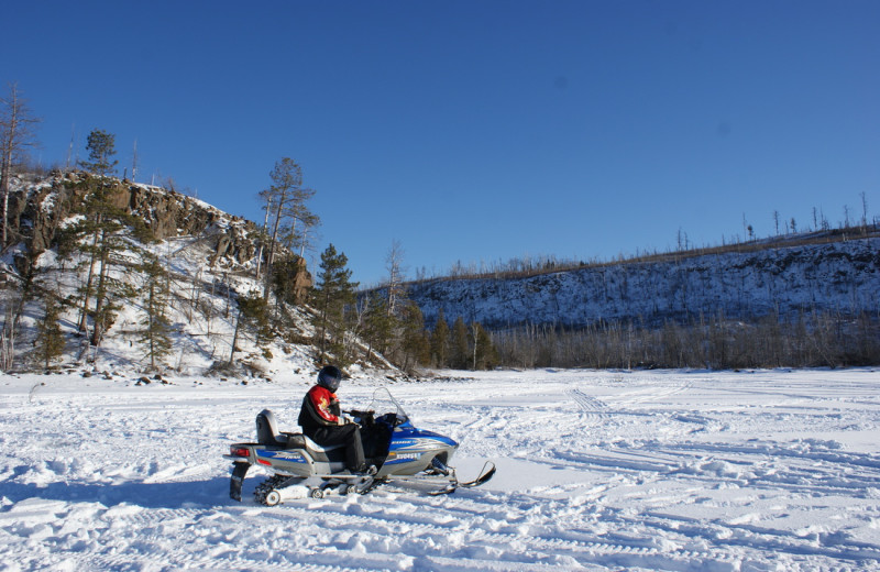 Snowmobiling at Park Point Resort.