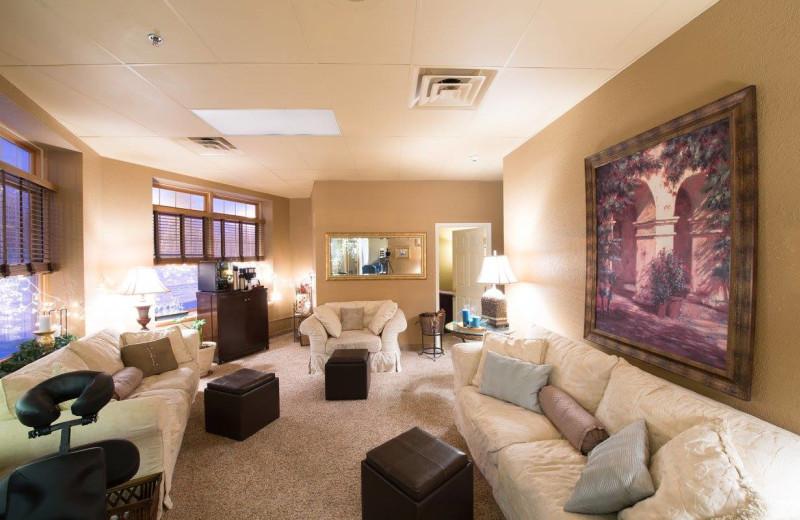 Spa lobby at The Lodge at Giants Ridge.