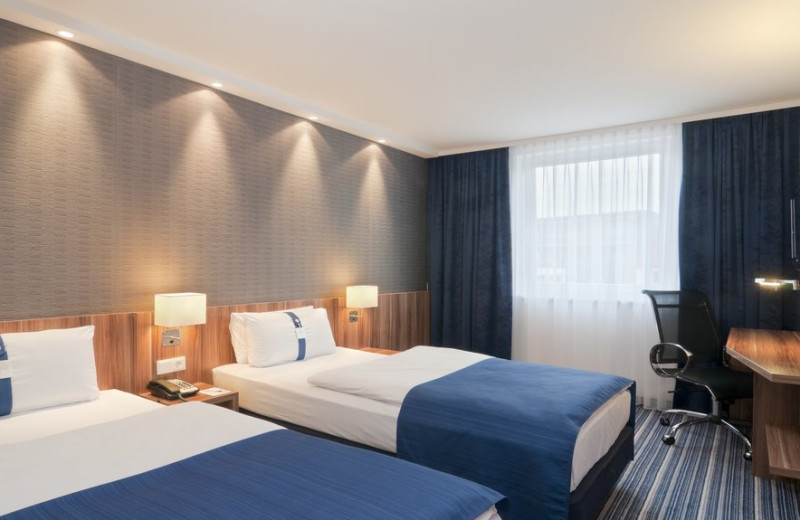 Guest room at Holiday Inn Express Essen - City Centre.