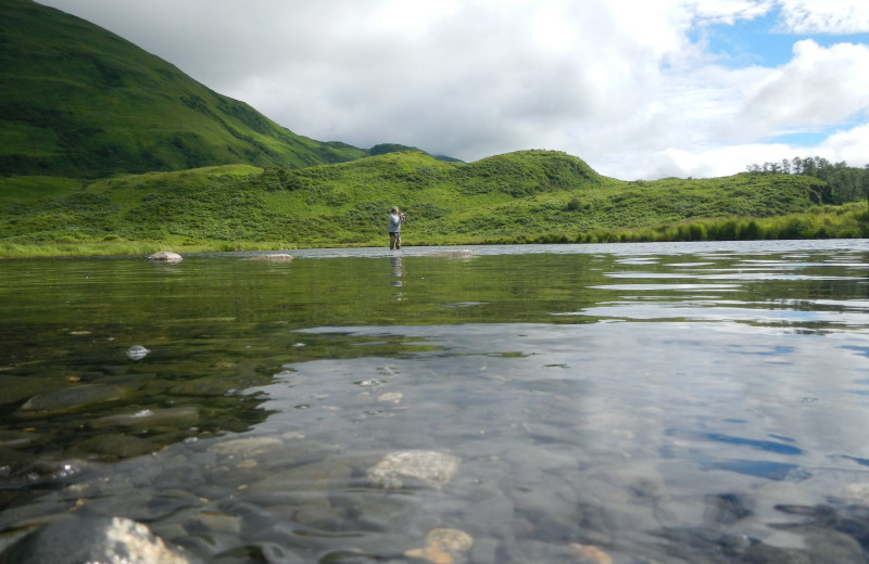 Fishing at Zachar Bay Lodge.