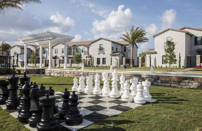 Giant chess at Balmoral Resort.