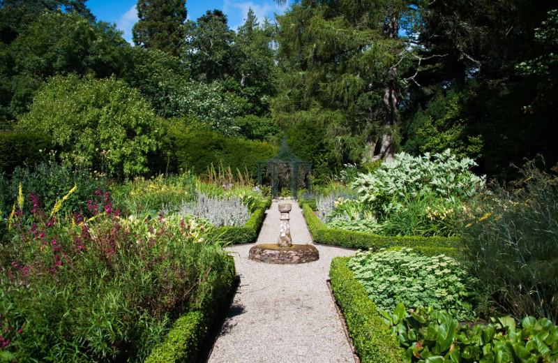 Castle garden at Luxury Castle Hire.