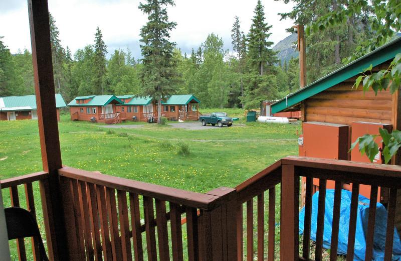 Cabin exterior at Gwin's Lodge & Kenai Peninsula Charter Booking Service.