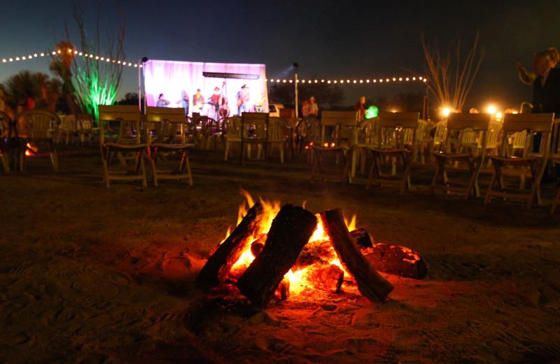 Bonfire at Rancho De Los Caballeros.
