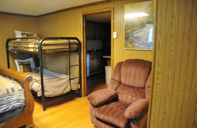 Guest room at Gwin's Lodge & Kenai Peninsula Charter Booking Service.