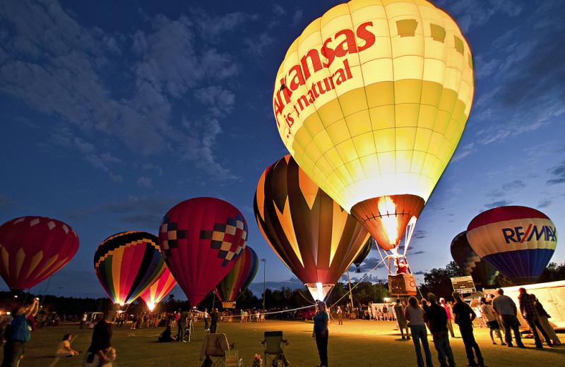 Hot air balloon rides at Buffalo Outdoor Center.