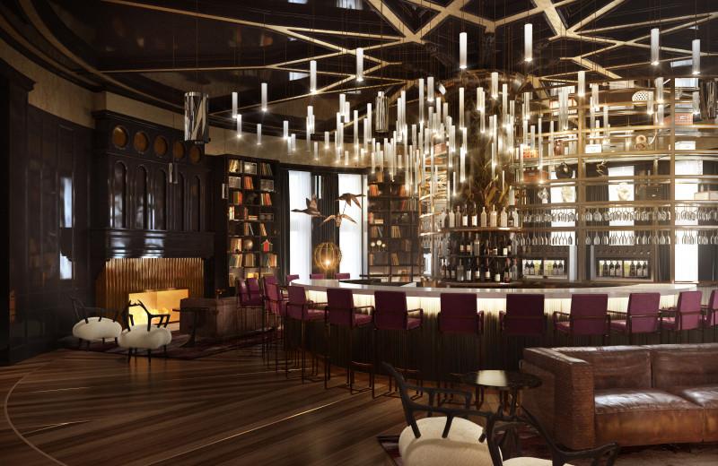Bar at Fairmont Le Chateau Frontenac.