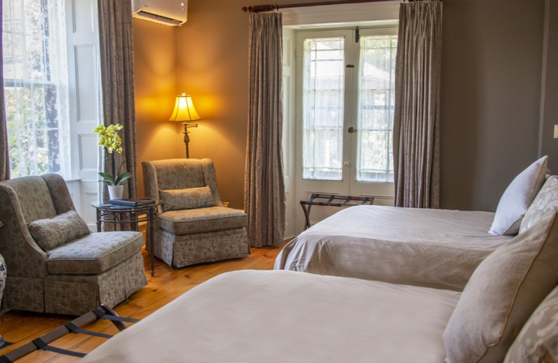 Guest room at Ste. Anne's Spa.