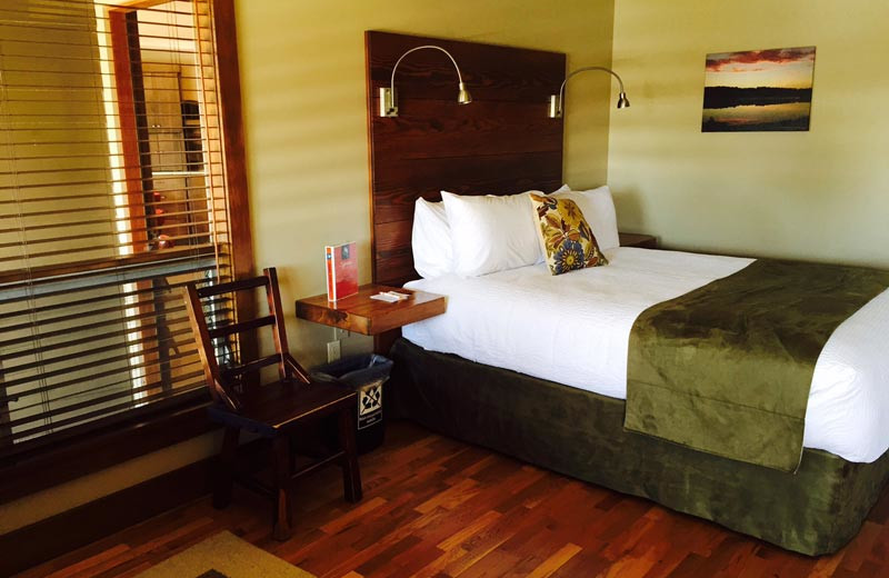 Guest room at Sojourn Lakeside Resort.
