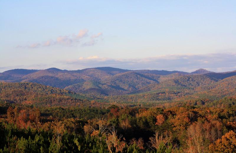 Mountains at Yogi Bear's Camp Golden Valley.