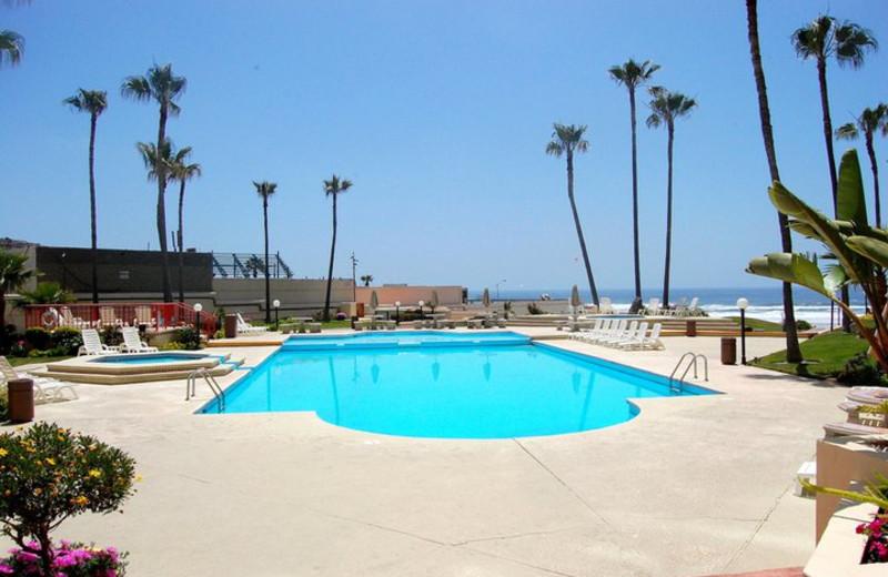 Oceana Del Mar Pool at  Rosarito Inn Condominiums