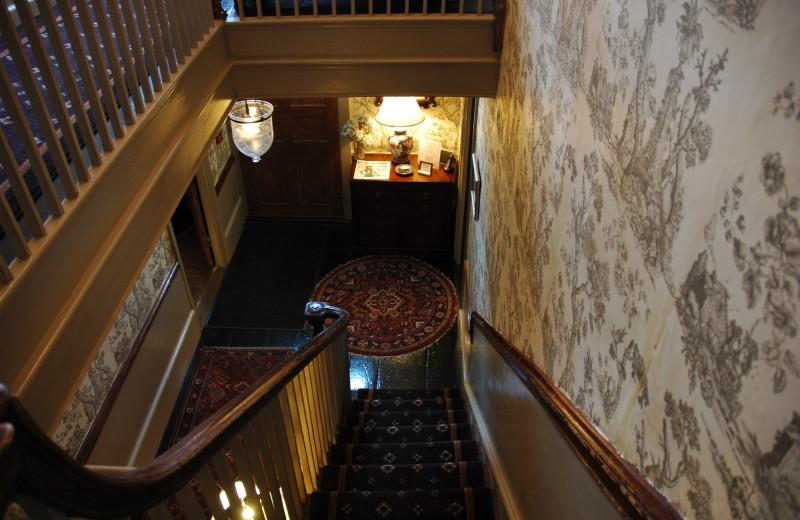 Stairs at Samuel Durfee House.