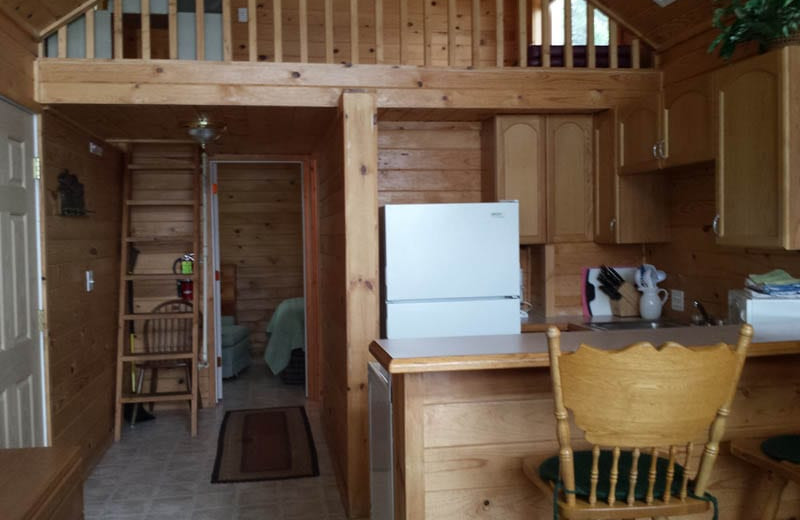 Cabin interior at Silver Beach Resort.