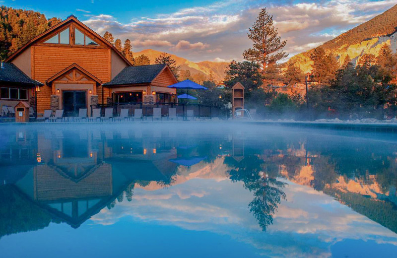 Hot springs at Mt. Princeton Hot Springs Resort.
