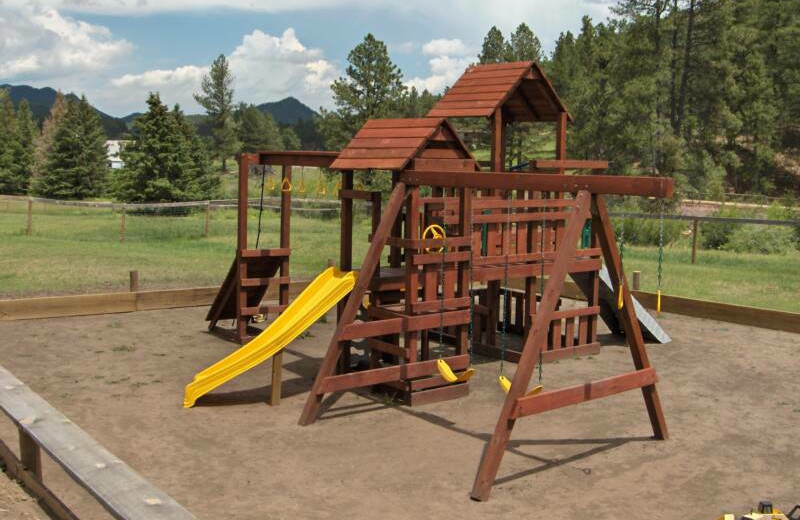 Kid's playground at Black Hills Cabins & Motel at Quail's Crossing.