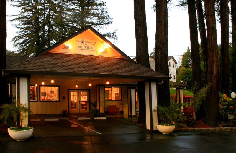 Exterior view of West Sonoma Inn and Spa.