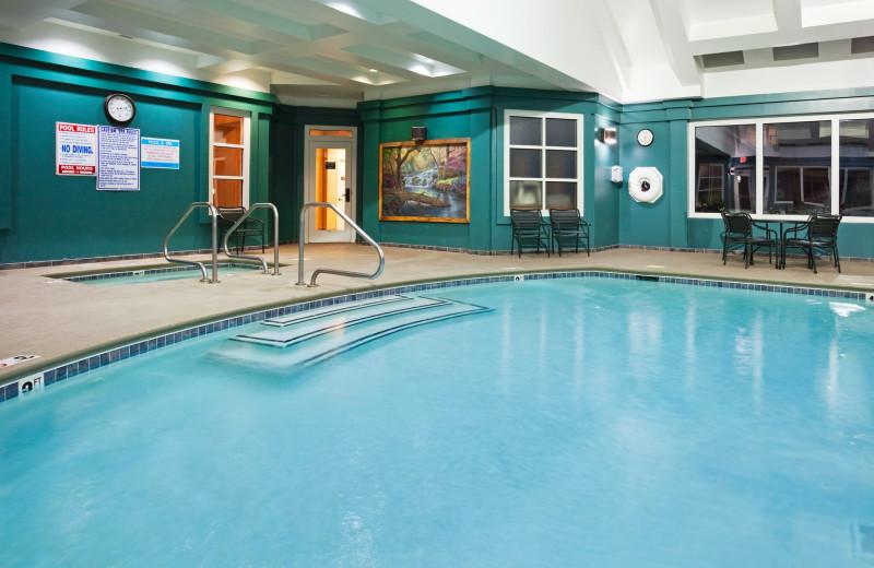 Indoor pool at Holiday Inn Club Vacations Smoky Mountain Resort.