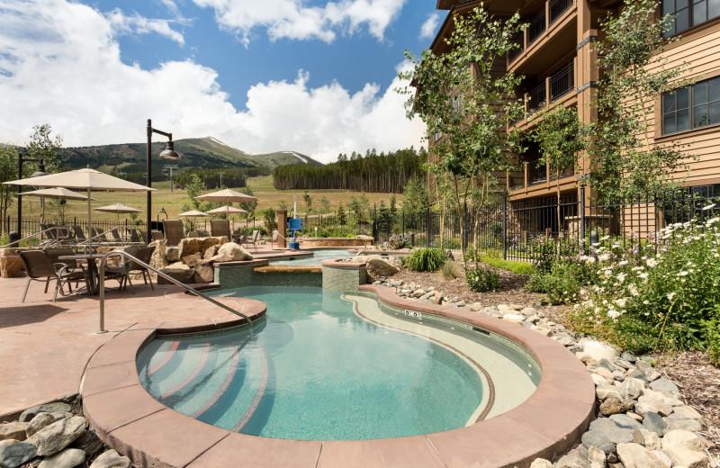 Outdoor pool at Grand Lodge on Peak 7.