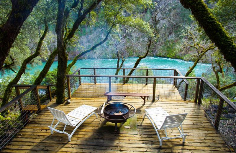 Rental deck at Redwood Coast Vacation Rentals