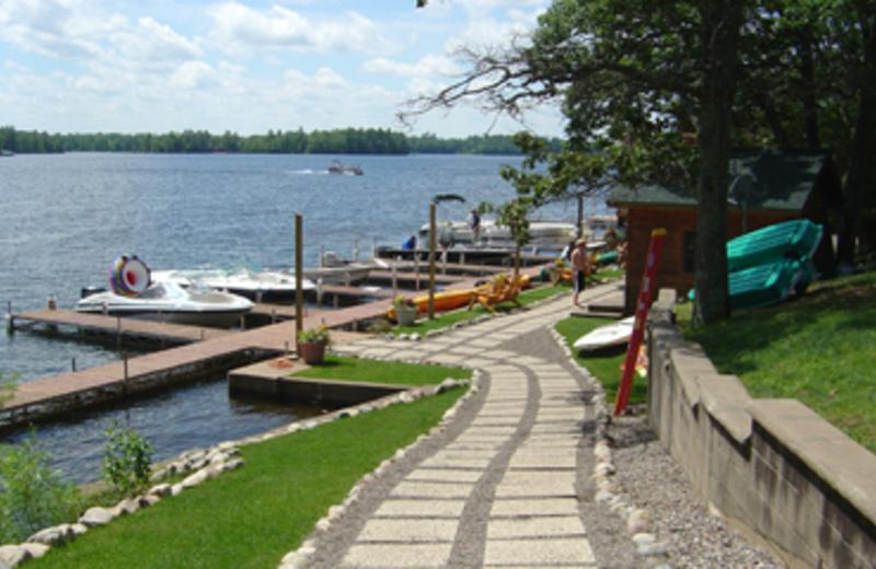 Dock view at Chippewa Retreat Resort.