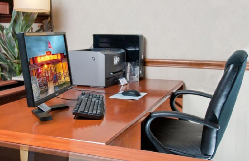 Business center at Best Western Ingram Park Hotel.