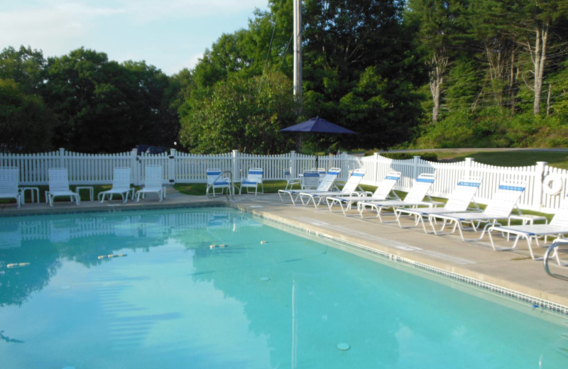 Outdoor pool at Cod Cove Inn.