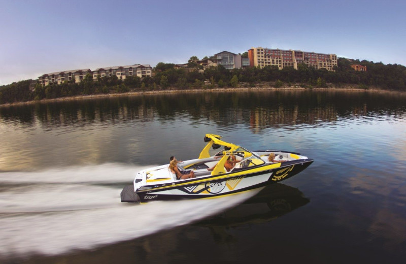 Boating at Lakeway Resort and Spa.