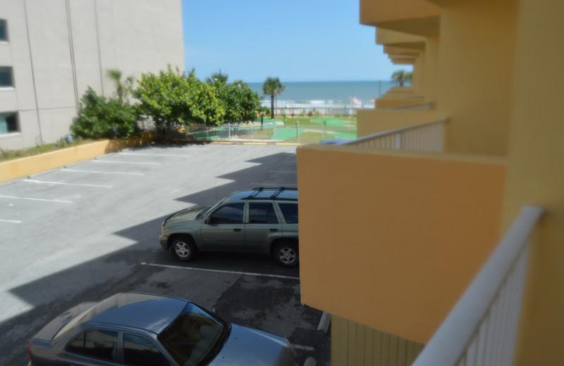 Guest balcony at Fountain Beach Resort.
