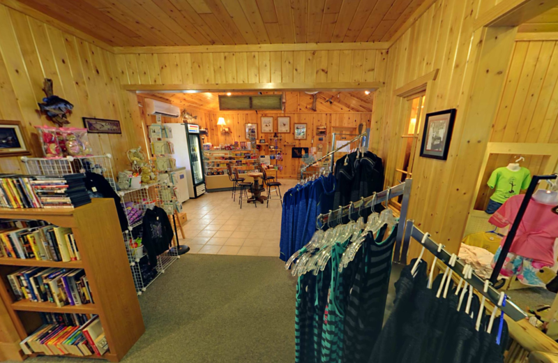 Gift shop at Black Pine Beach Resort.