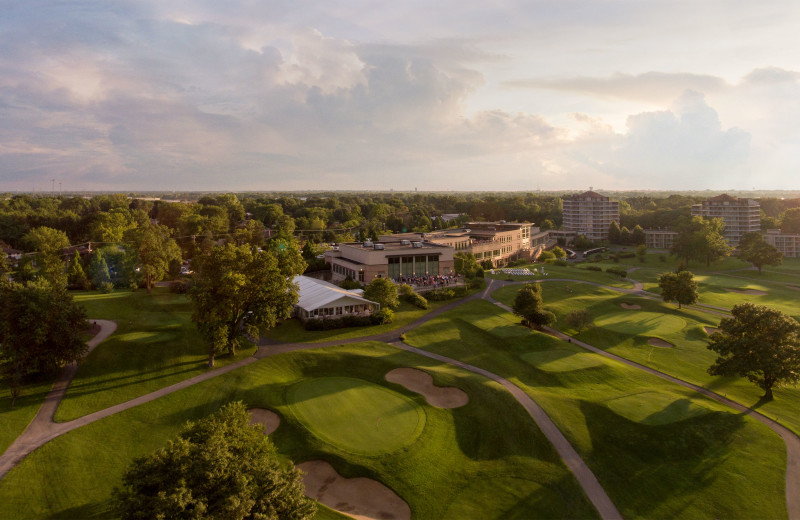 Aerial view of Eaglewood Resort & Spa.